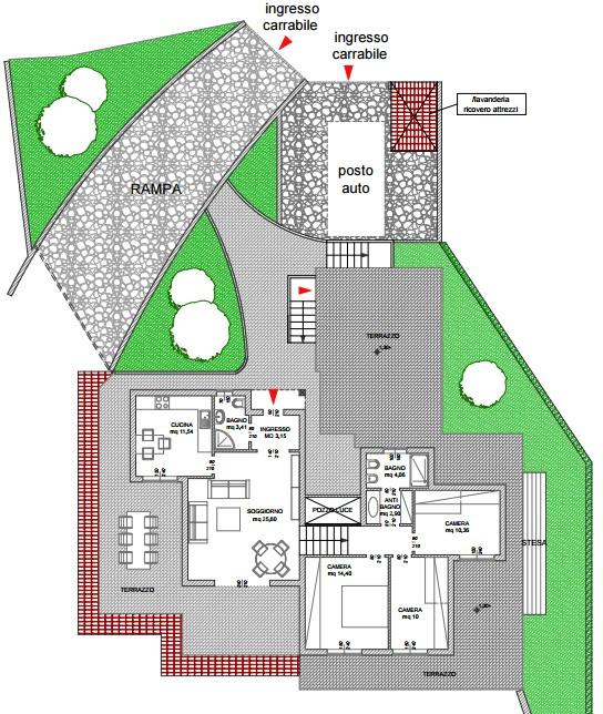 Casa facile agenzia immobiliare ad ospedaletti studio tecnico planimetria piano primo - Percentuale agenzia immobiliare tecnocasa ...